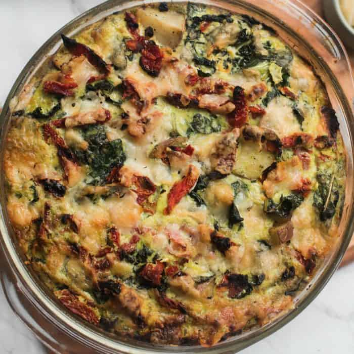 Delicious Easy Frittata Recipe with Pesto