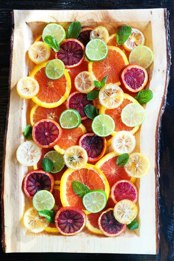 Layered Fresh Citrus Salad with Mint