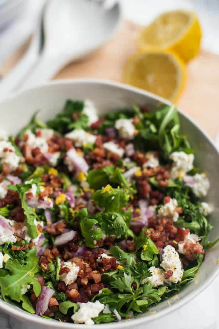 Best Parsley Pancetta Arugula Salad Recipe