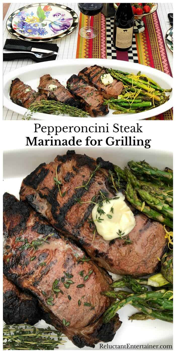 Easy Pepperoncini Steak Marinade for Grilling recipe