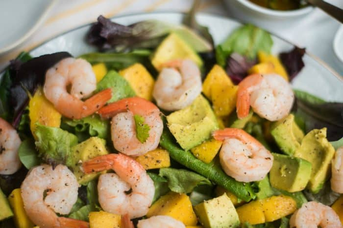 Best Mango Avocado Salad with Fresh Prawns