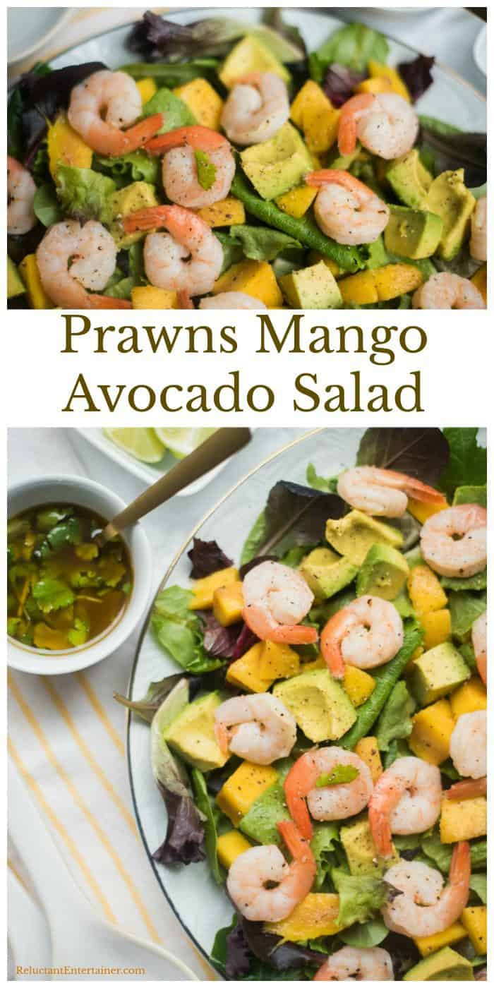 Prawns Mango Avocado Salad Recipe