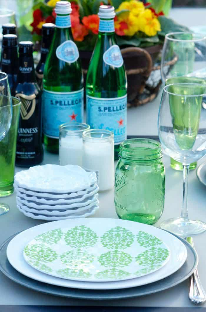 Set the table for St. Patrick's Day