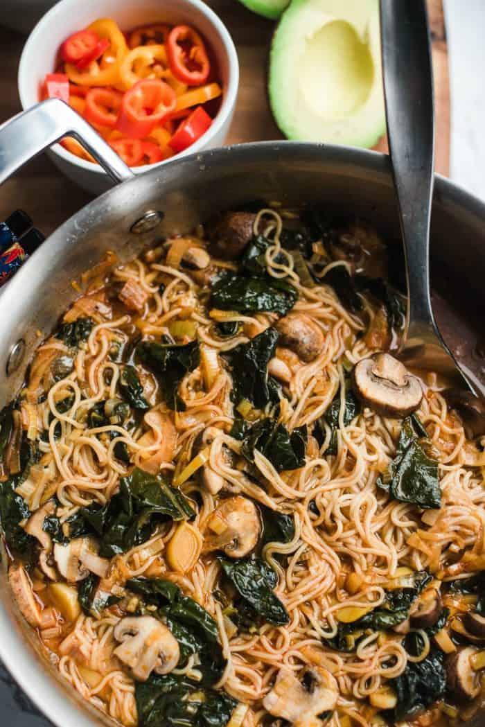 Vegetarian Ramen Noodle Bowl