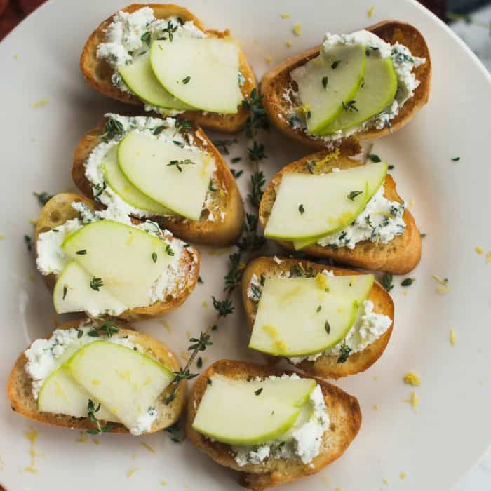 Apple Goat Cheese Crostini
