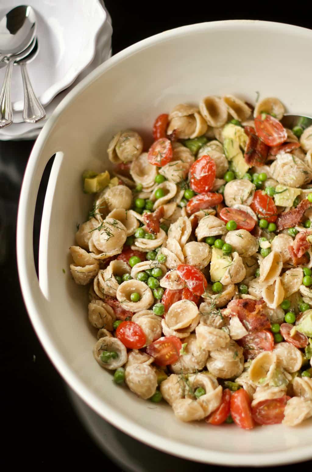 BEST BLT Pasta Salad Recipe - Reluctant Entertainer