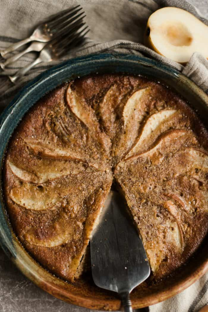 Honey Ginger Pear Custard Pie Recipe