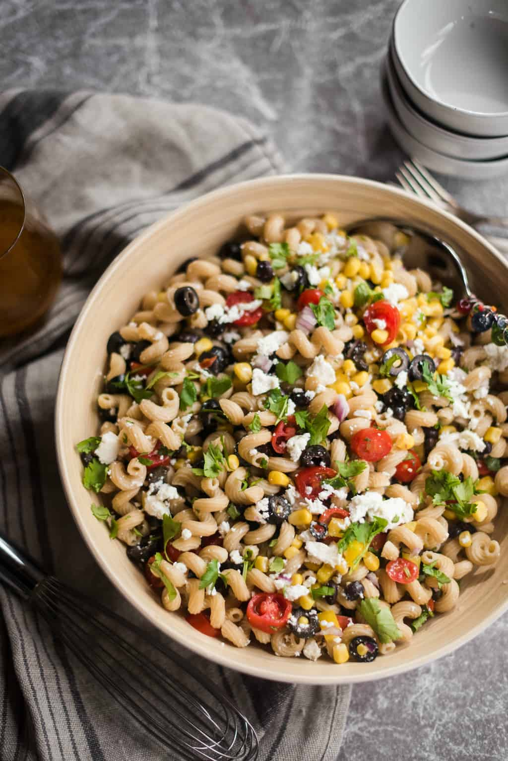 1ad53caf4abf Mexican Pasta Salad Recipe - Reluctant Entertainer