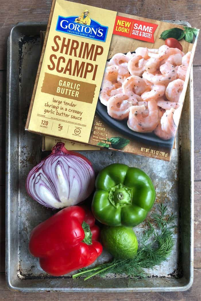 Garlic Butter Shrimp Scampi Foil Pack Dinner