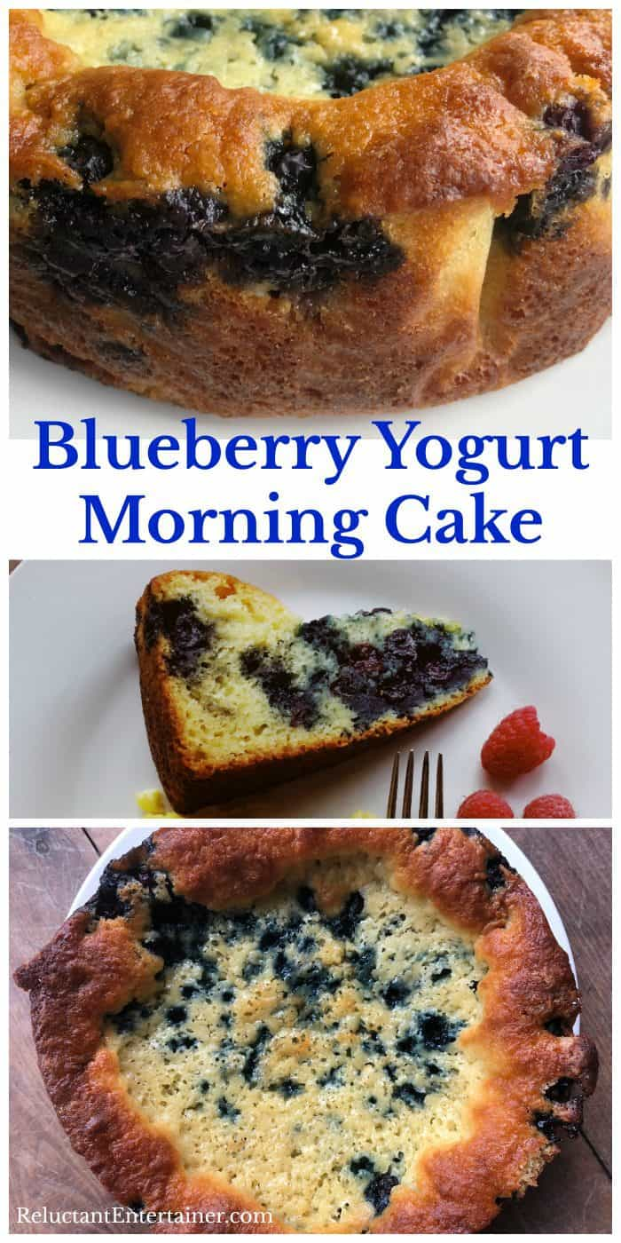 Delicious Blueberry Yogurt Morning Cake