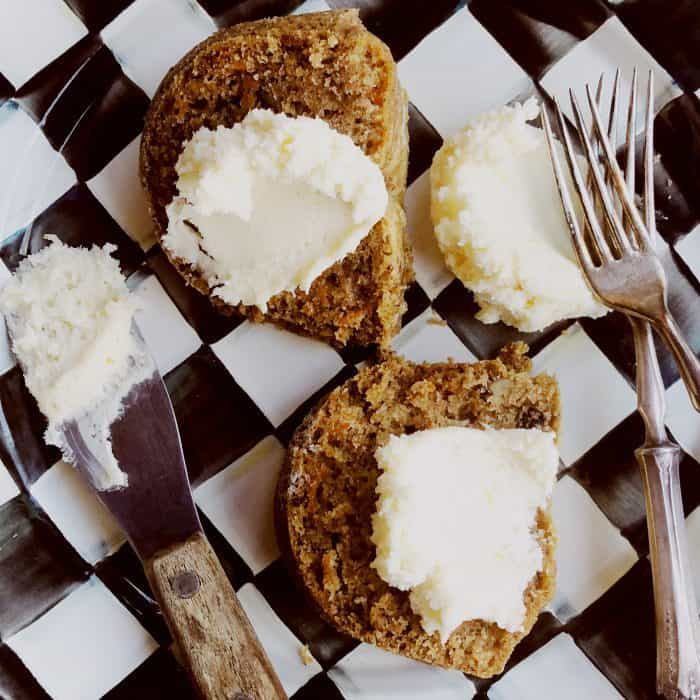 Deconstructed Carrot Cake with Cream Cheese Frosting