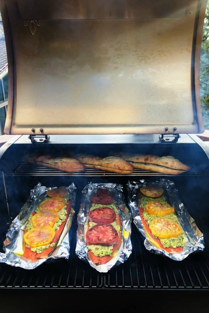 Easy Cashew Pesto Wild Sockeye Salmon