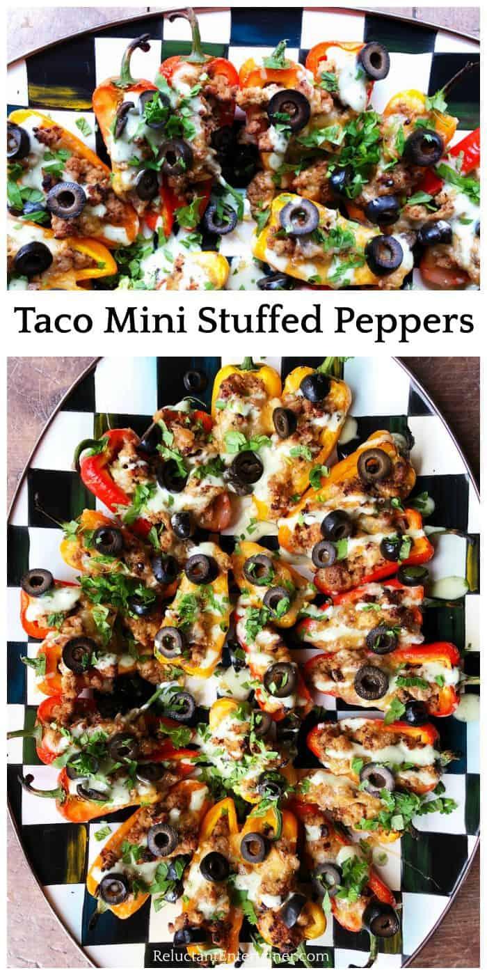 Tasty Taco Mini Stuffed Peppers Recipe