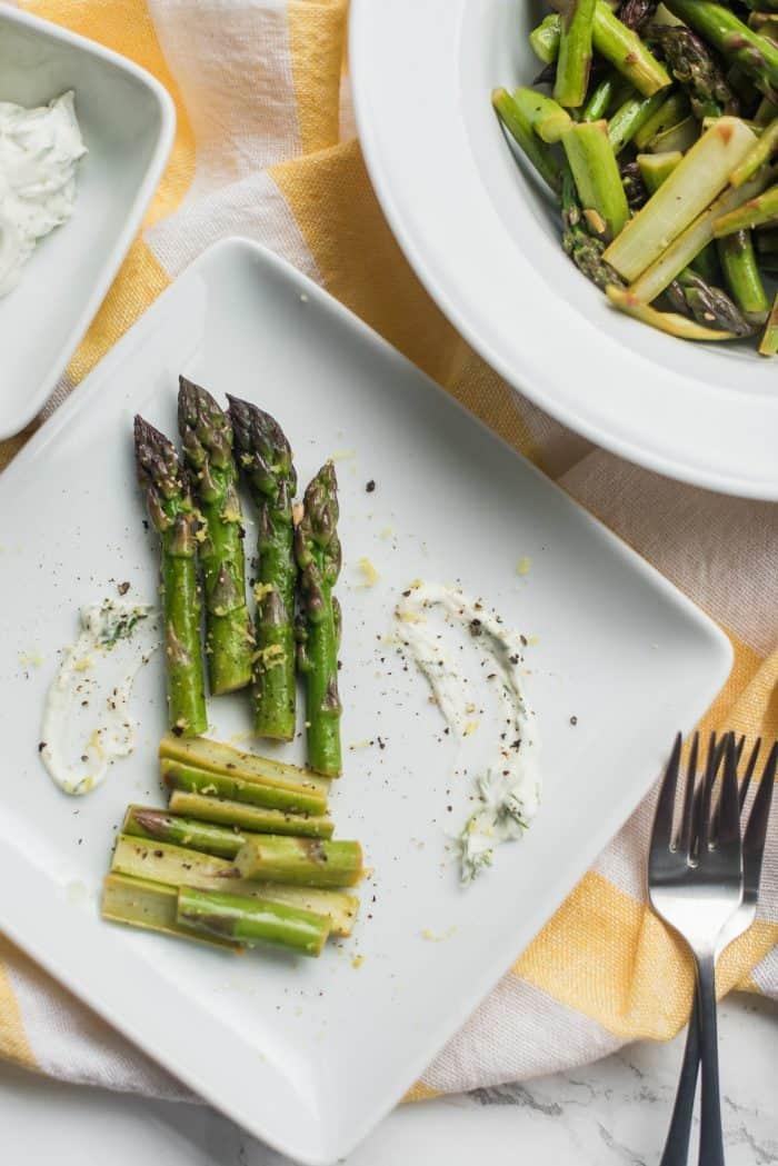 Butter Dill Sautéed Asparagus