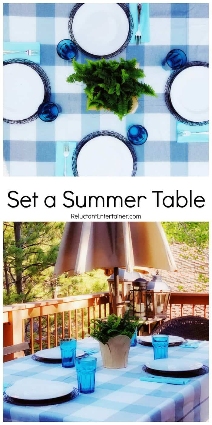 HOW TO: SET A SUMMER TABLE