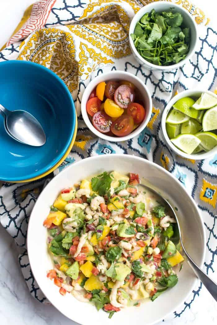 Shrimp Ceviche Recipe With Mango and Avocado