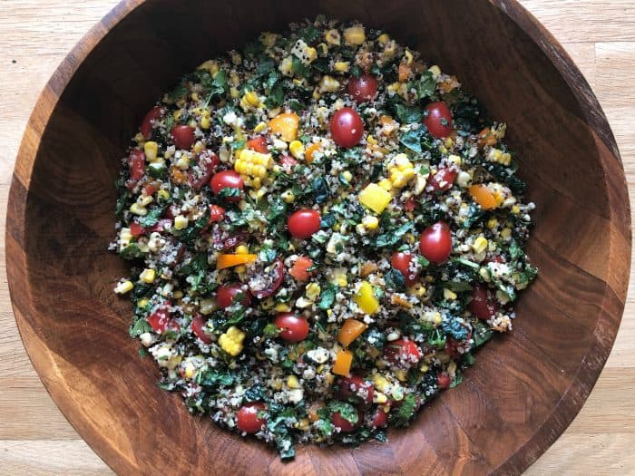 Delicious Southwest Kale Quinoa Salad
