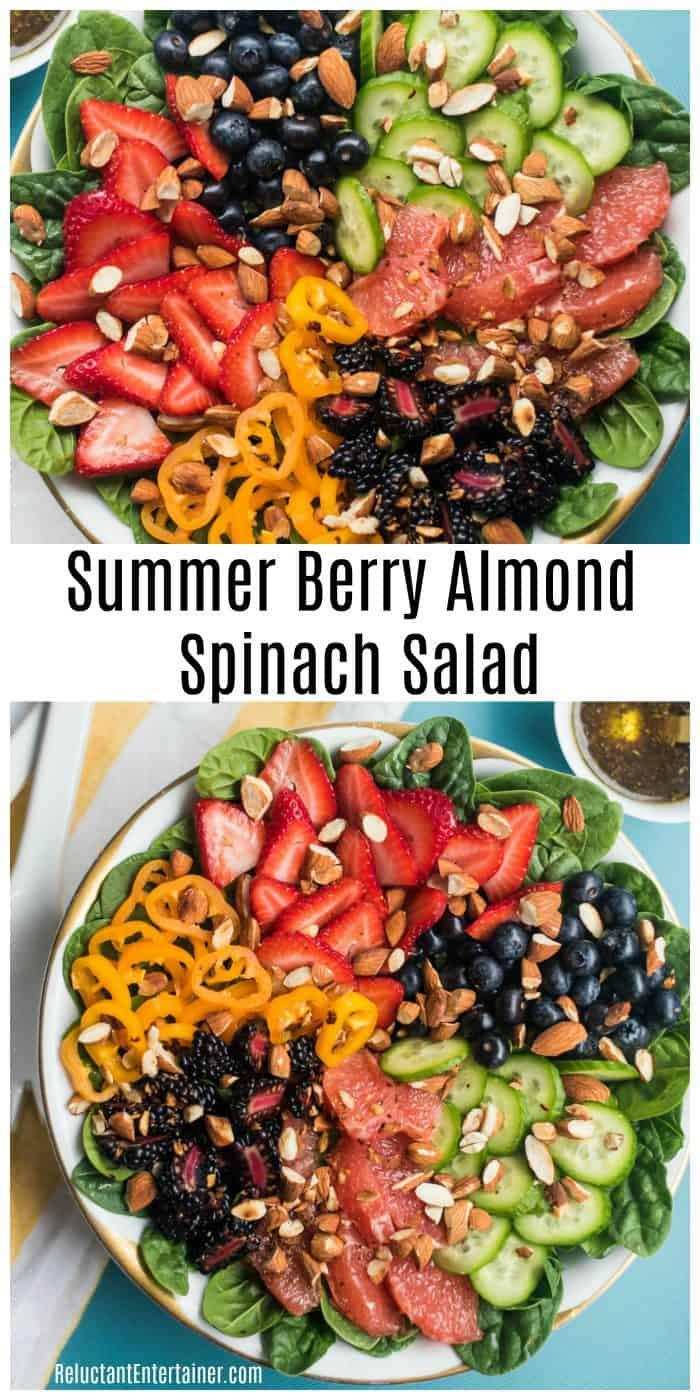 Summer Berry Almond Spinach Salad Recipe