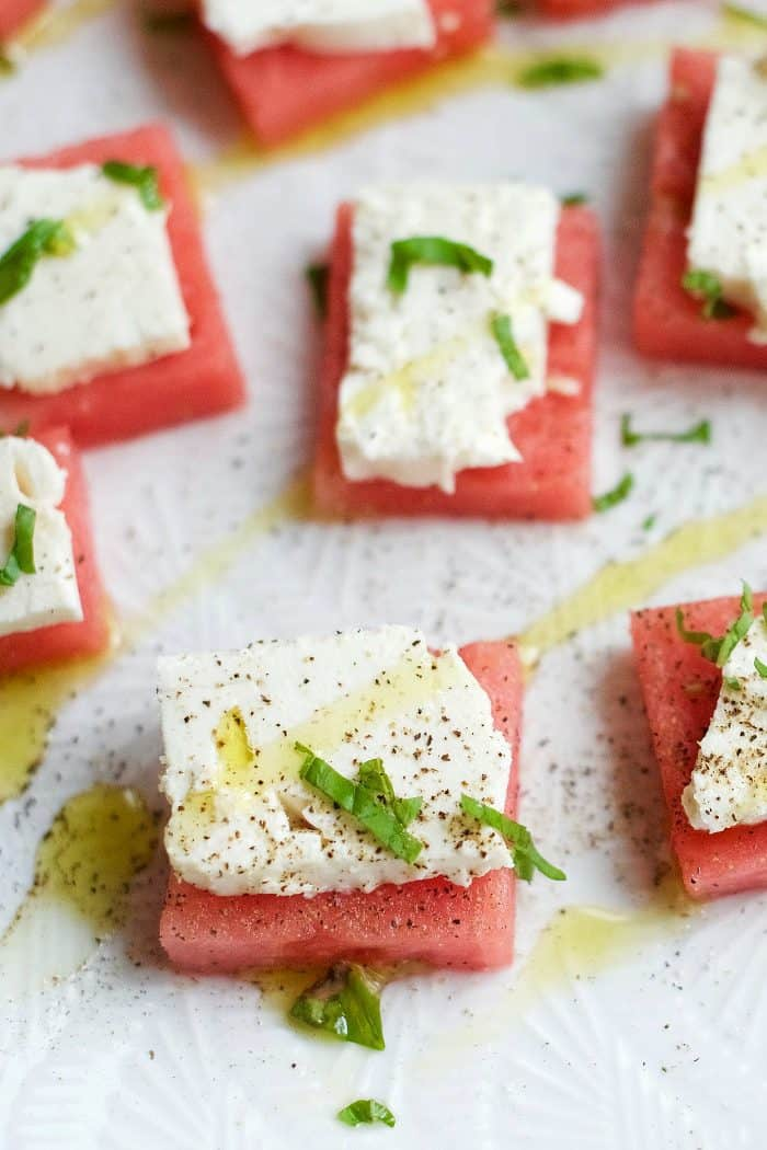 Easy Watermelon Feta Bites Appetizer Recipe