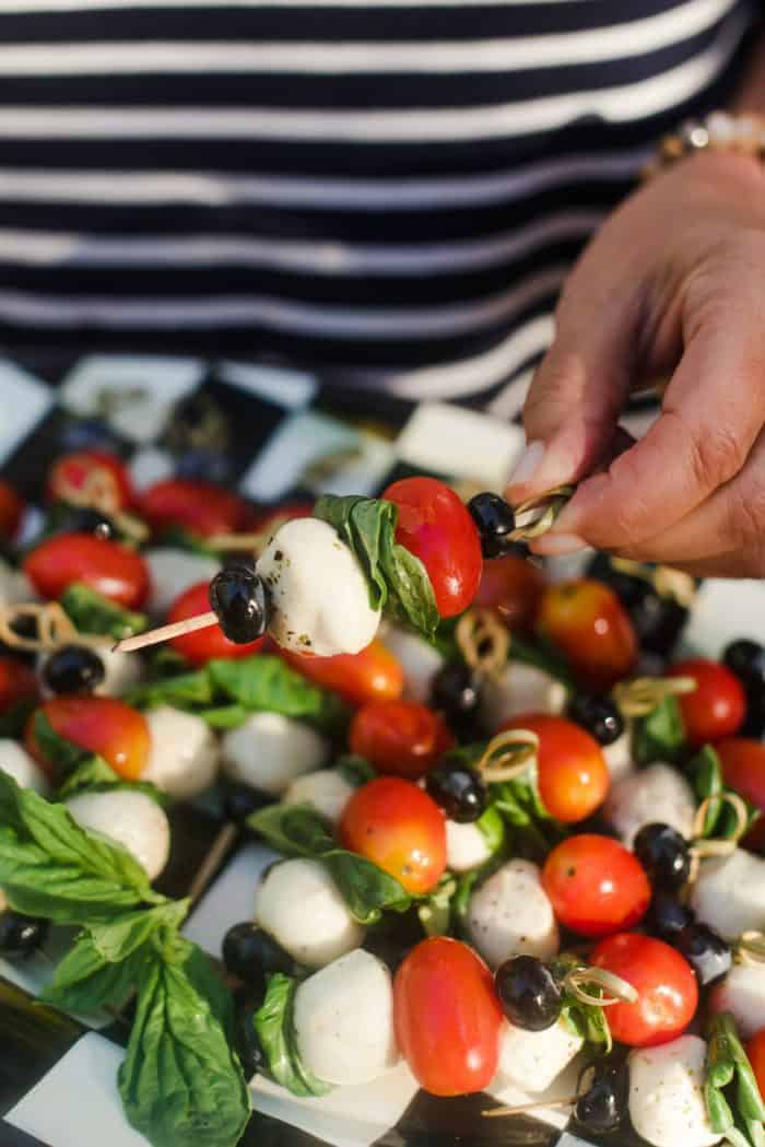4th of July Blueberry Caprese Skewers
