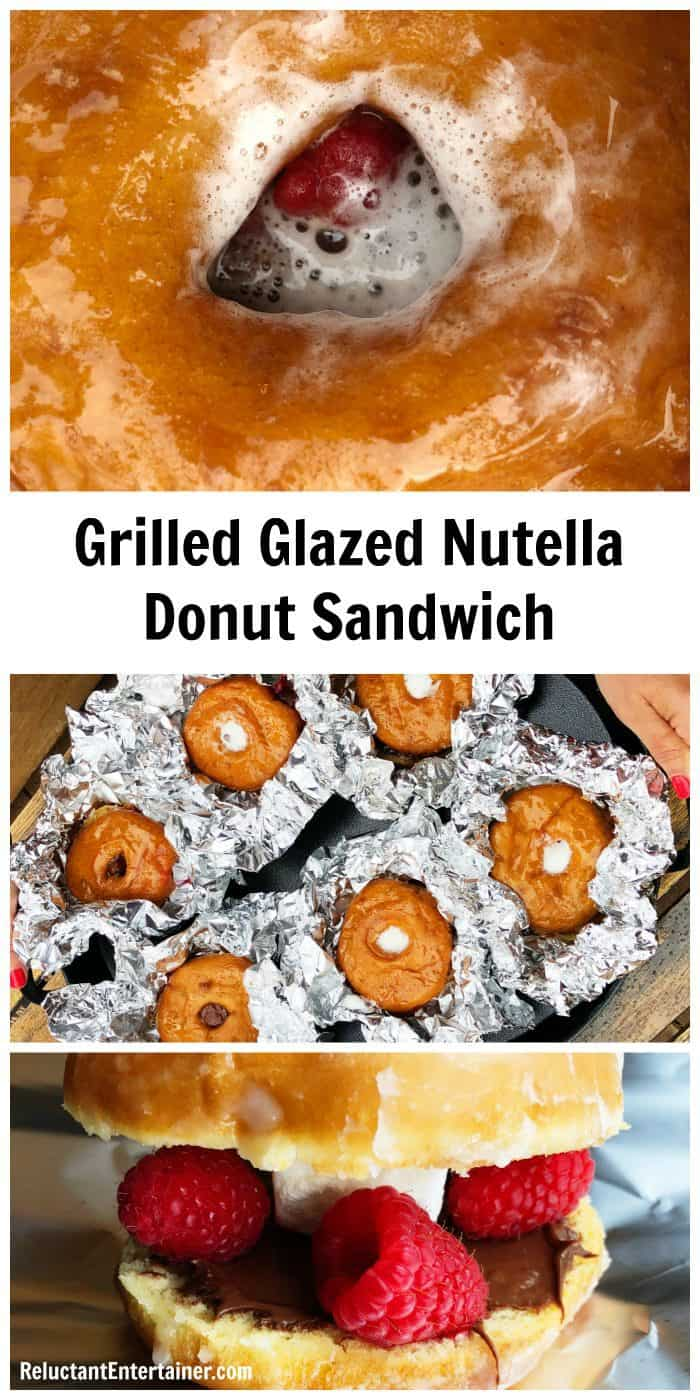 Grilled Glazed Nutella Donut Sandwich (FOIL PACK)