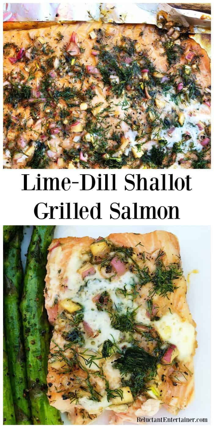 Lime-Dill Shallot Grilled Salmon