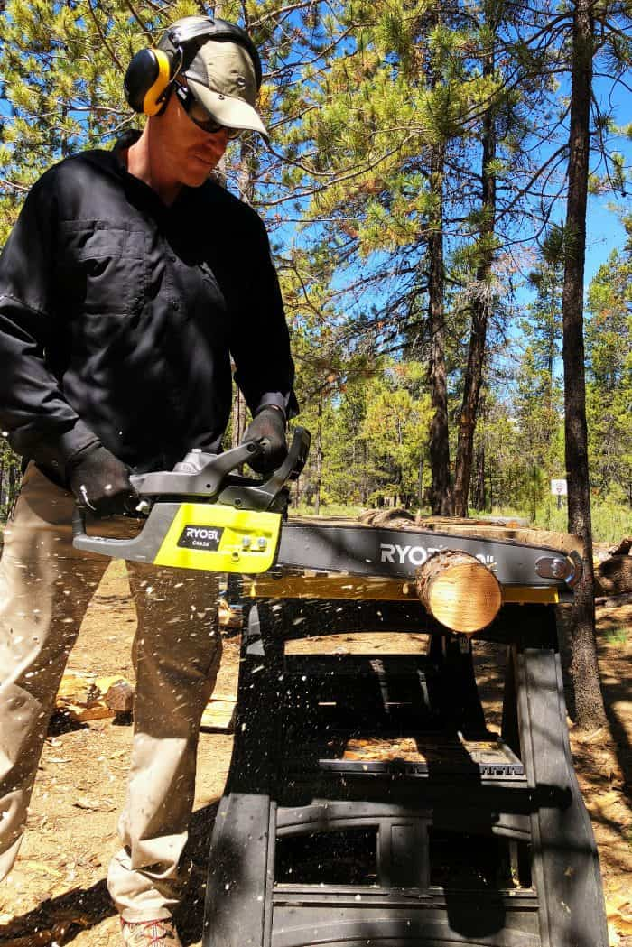 Preparing for Summer with Ryobi Outdoor Products - chain saw
