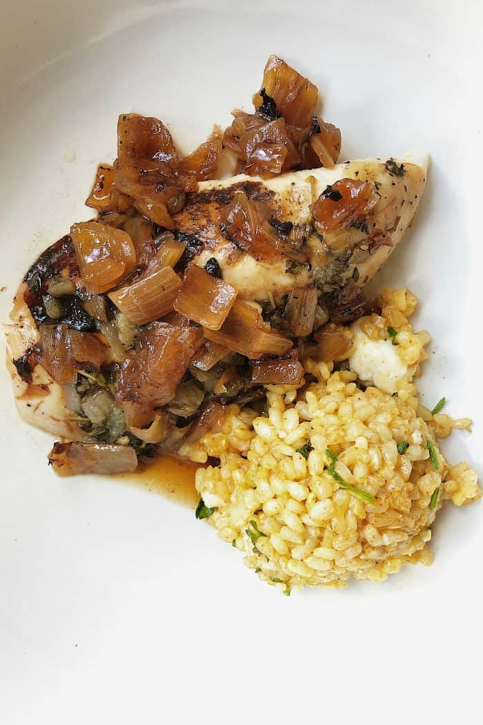 Roasted Balsamic Whole Chicken Recipe + RICE