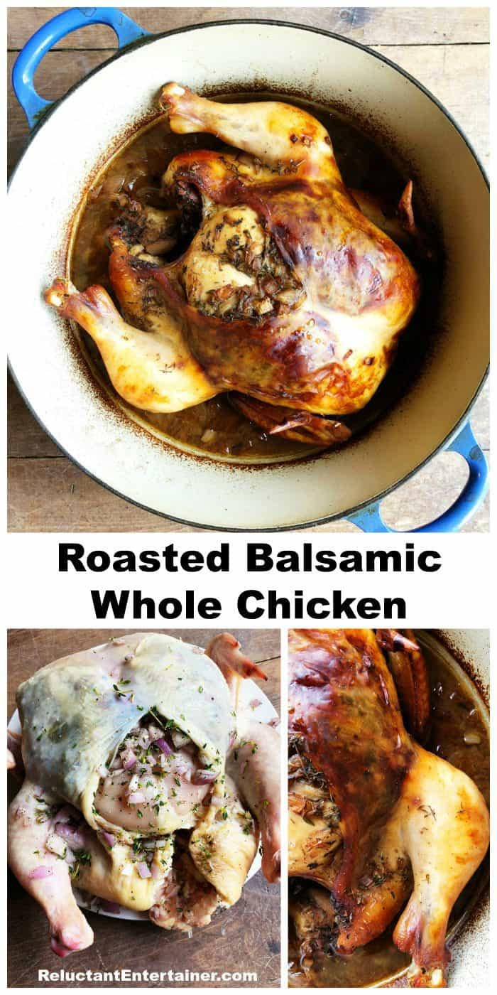 Roasted Balsamic Whole Chicken