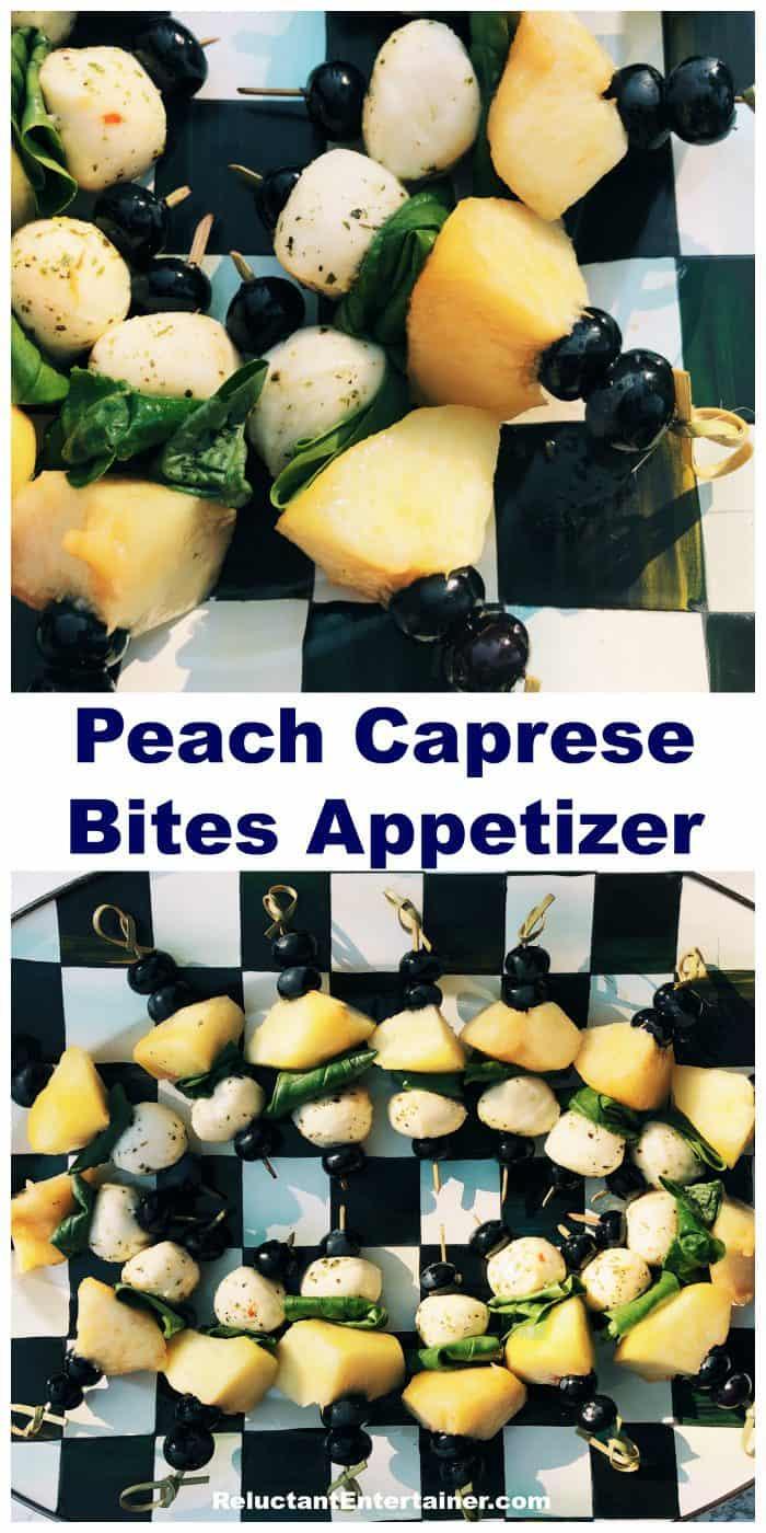 Peach Caprese Bites Appetizer Recipe