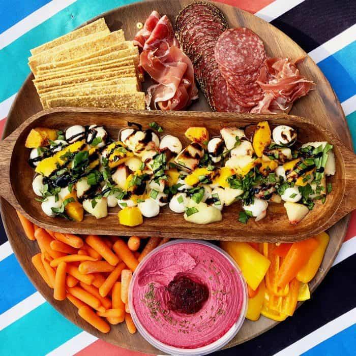 EASY Peach Caprese Salad Recipe - square