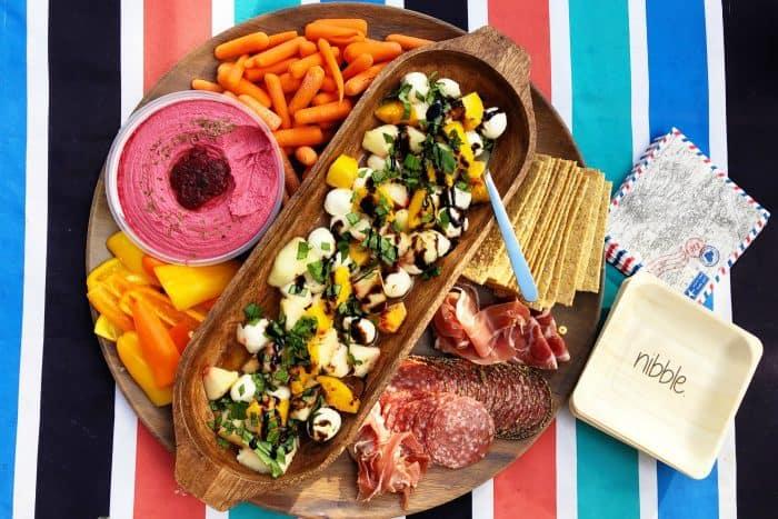 BEST Peach Caprese Salad Recipe