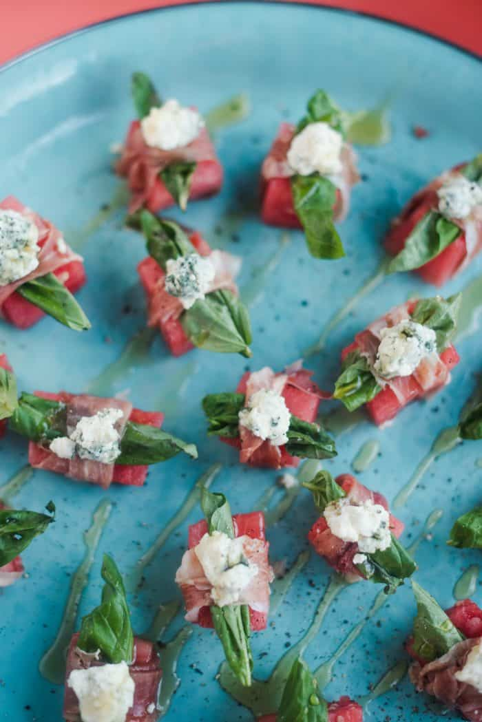 Watermelon Blue Cheese Bites