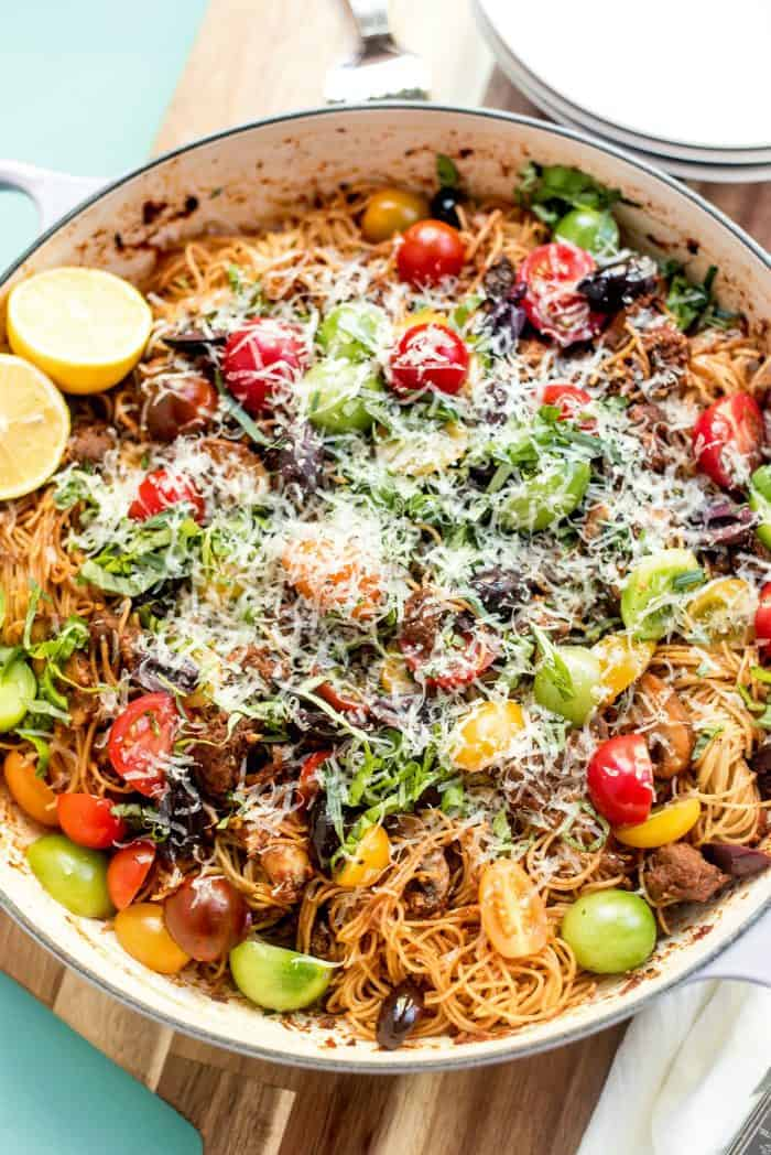One-POT Summer Pasta with Bolognese Sauce Recipe