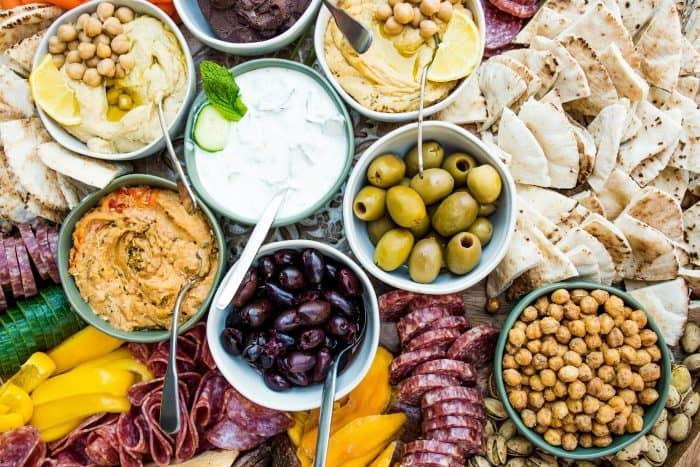 Delicious Epic Greek Charcuterie Board
