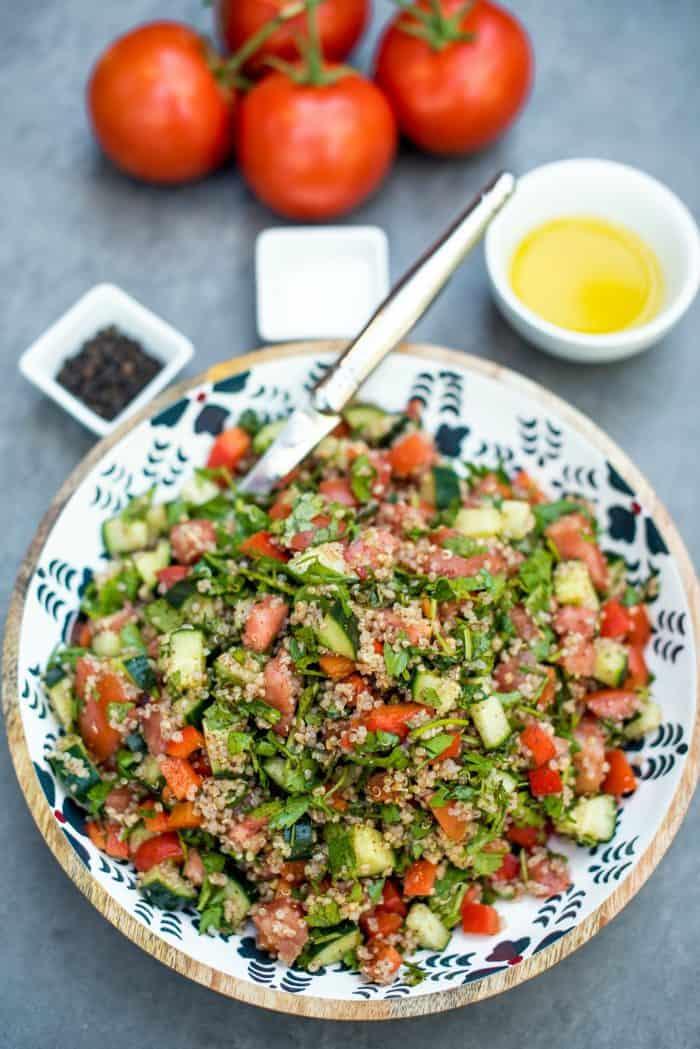 Fresh Israeli Quinoa Chopped Salad