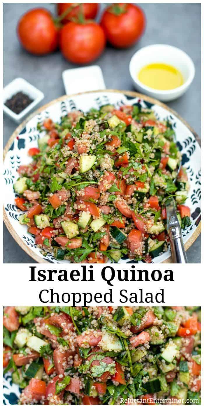 Israeli Quinoa Chopped Salad Recipe