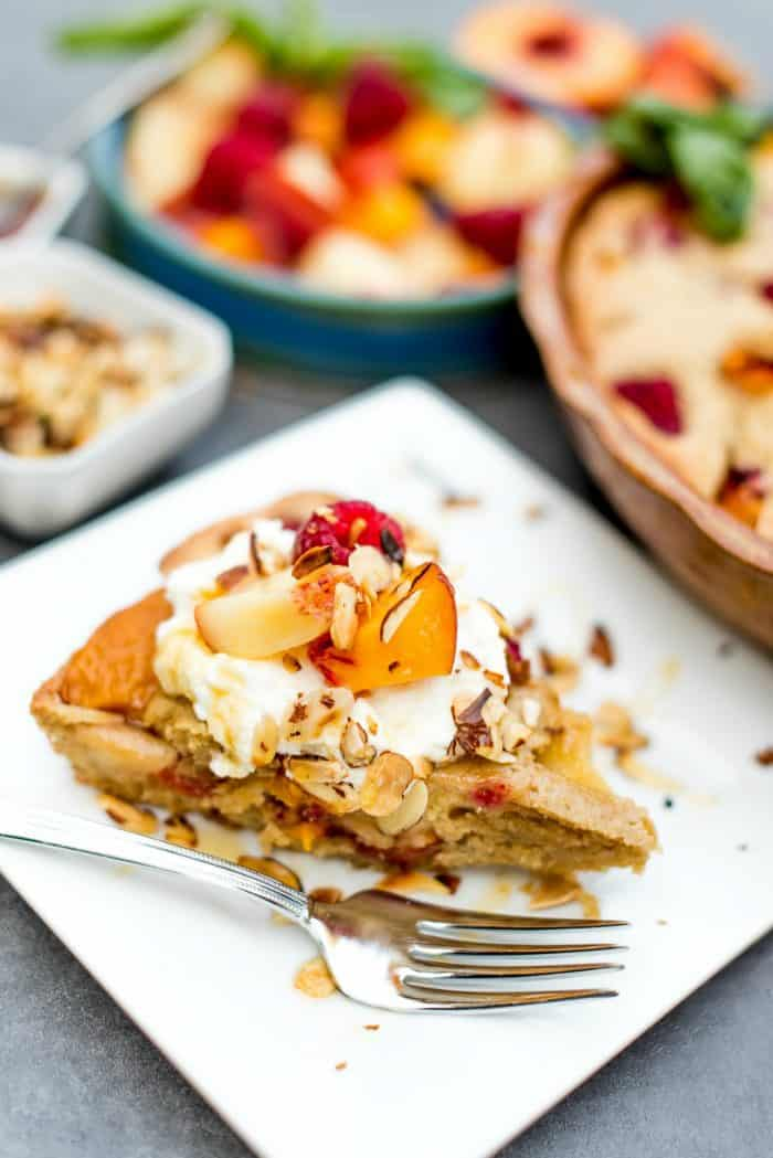 Olive Oil Peach French Pound Cake