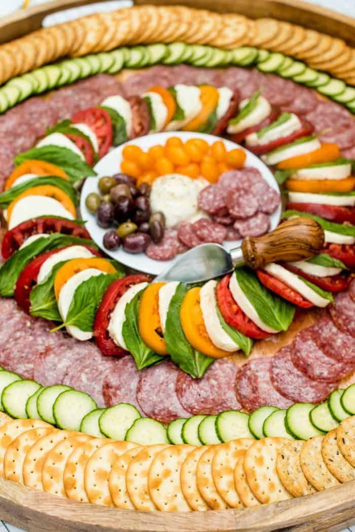 BEST Salami Caprese Charcuterie Board Recipe