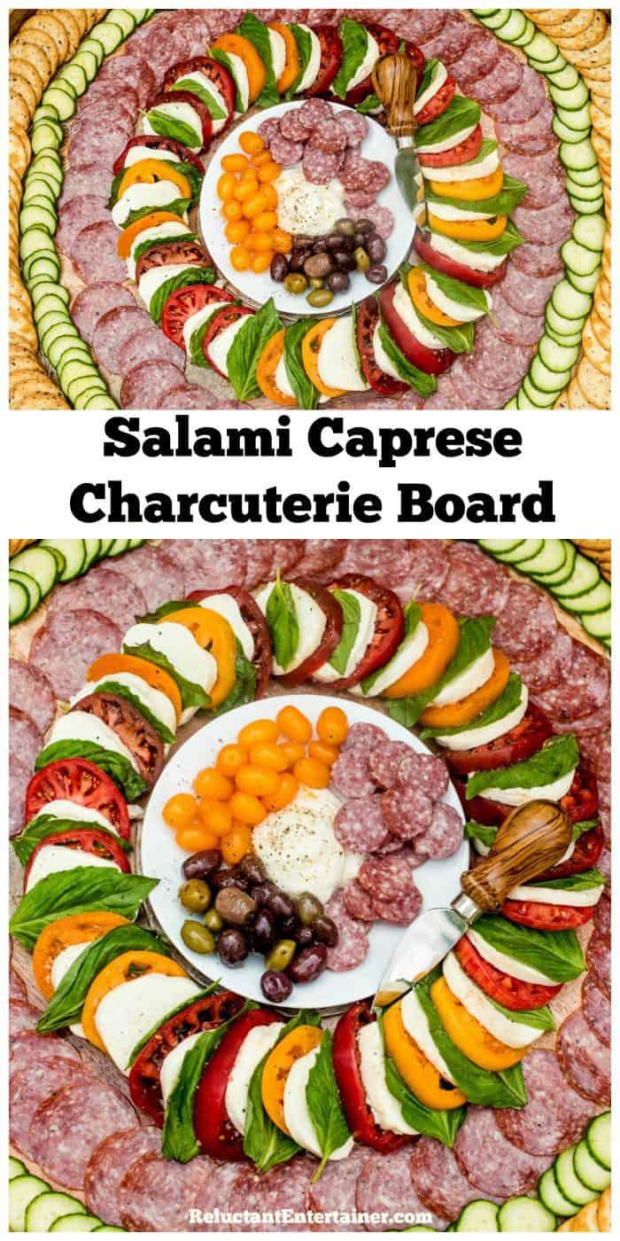 Salami Caprese Charcuterie Board Recipe