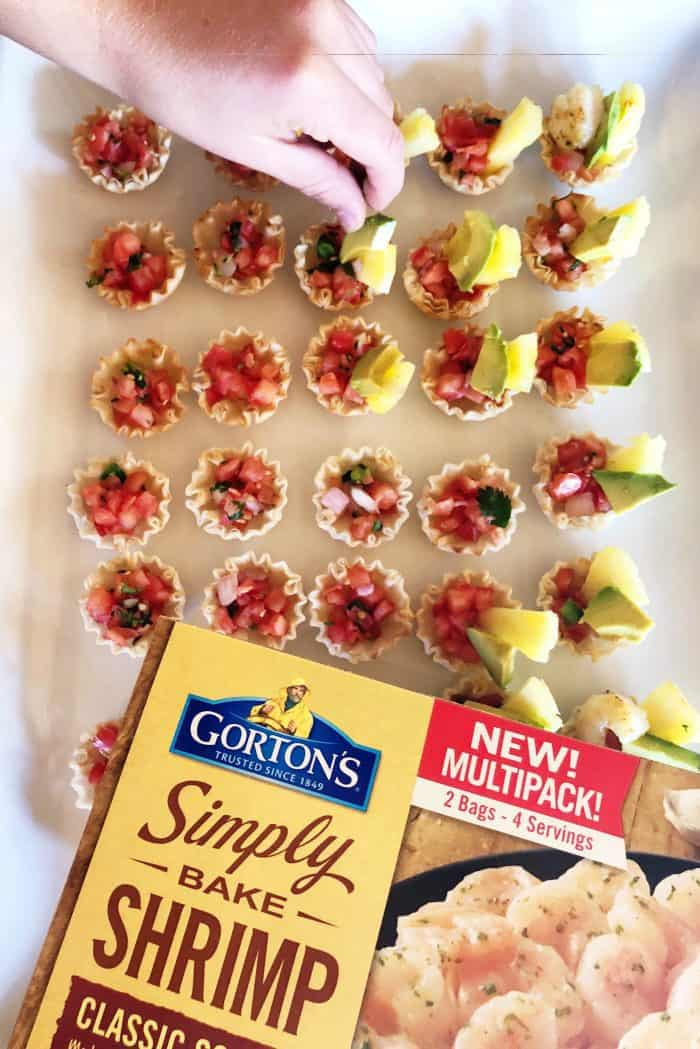 How to make Shrimp Scampi Taco Bites