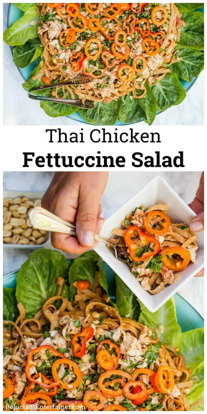 Thai Chicken Fettuccine Salad Recipe