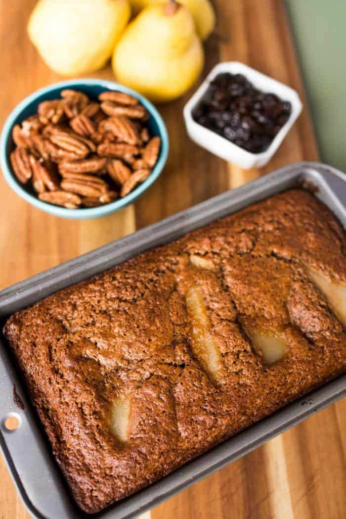 BEST Tart Cherry Banana Pear Bread Recipe