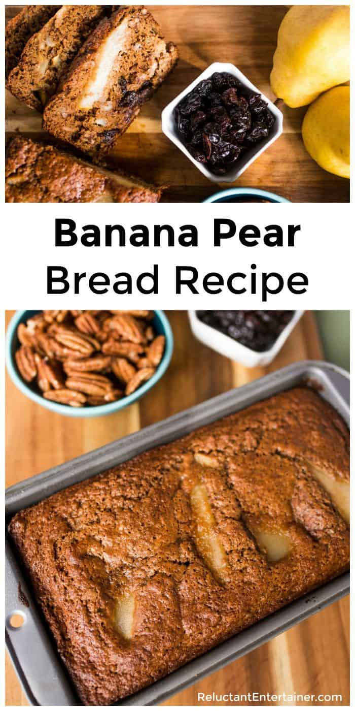 Tart Cherry Banana Pear Bread