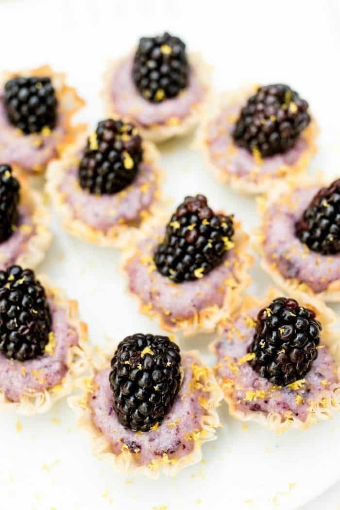 Blackberry Lemon Cups