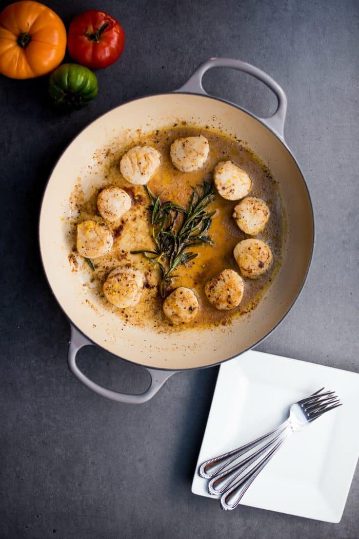 Browned Butter Rosemary Scallops