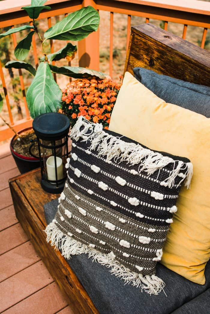 Cozy Outdoor Living Space - Target pillows