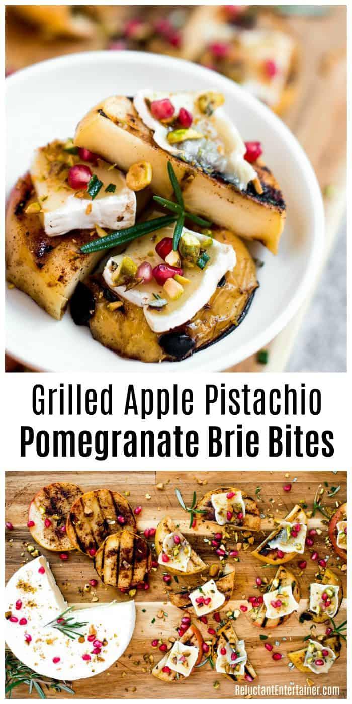Grilled Apple Pistachio Pomegranate Brie Bites Recipe