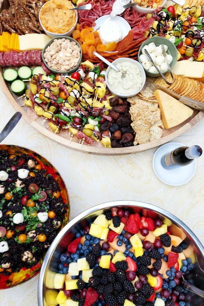 Book Party Mini Tortellini Kebabs Charcuterie Board