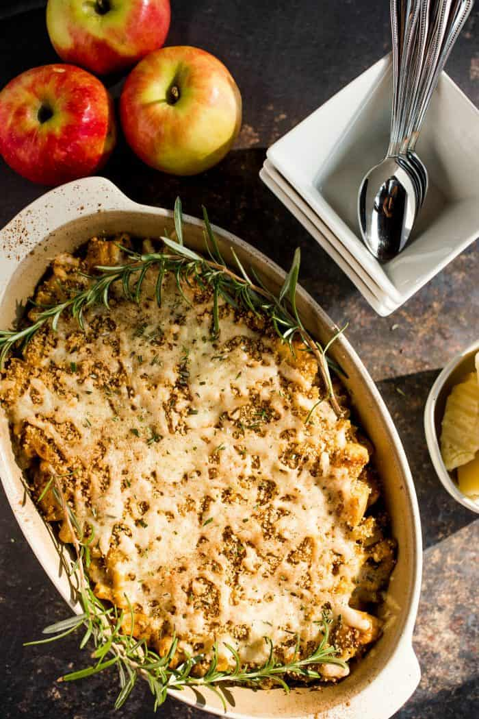 Pumpkin Apple Three Cheese Mac and Cheese